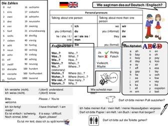 Language mat (German / French)