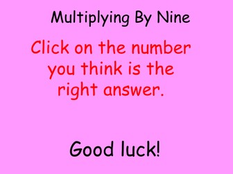 Interactive multiplication tables