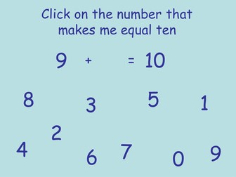 Number Pairs that add up to ten
