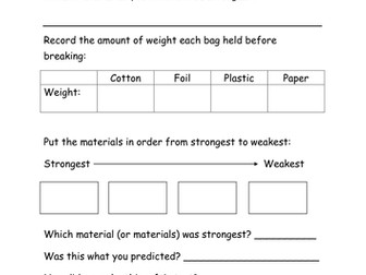 Which material is strongest? Handout