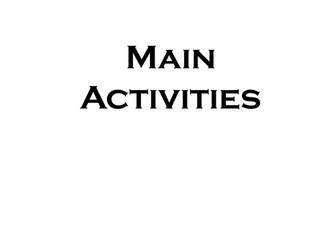 Teaching Activities - Main Activities