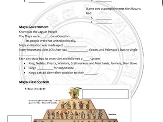 Mayan General Powerpoint & Handout