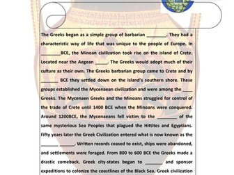 Anient Greece Early Civilization PPT & Handout