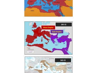 Rome-Byzantine Timeline and Map