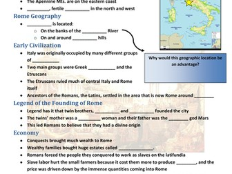 Ancient Rome Powerpoint & Skeleton Notes