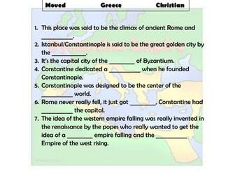Byzantine Empire Video Notes