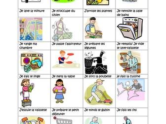 French household tasks