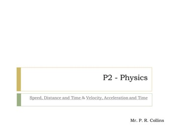 Physics Speed Distance & Time