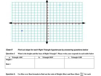 Teach Algebra Slope in Geometry Class