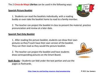 Cinco de Mayo Spanish 2 Booklets