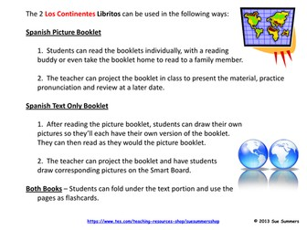 Spanish Continents 2 Booklets - Los Continentes