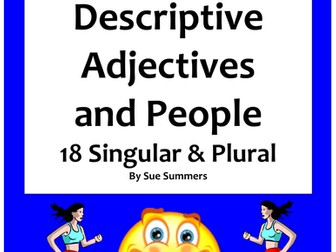 Spanish Adjectives and People Worksheet - Number and Gender Agreement