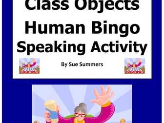 Spanish Class Objects Human Bingo Game Speaking Activity