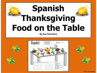 Spanish Thanksgiving Table and Vocabulary - Dia de Accion de Gracias