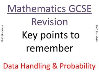 GCSE Mathematics Data Handling Revision/Key Points