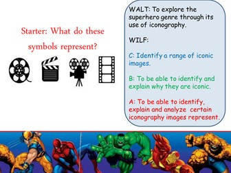 Film Studies WJEC GCSE Superheroes