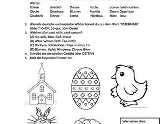 Ostern Arbeitsblatt by lfenner1 - Teaching Resources - Tes