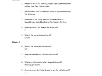 Quiz Questions with  Answers for Ctrl-Z by Andrew Norriss