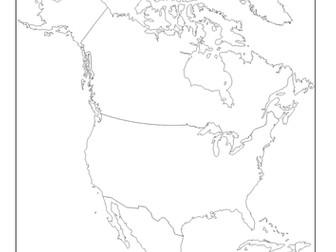 Locate and label countries in North America