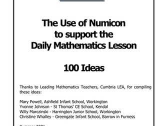 Numicon year one resources