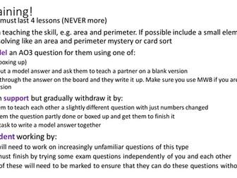 WJEC AO3 exam practice - Bills