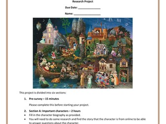 Myths, Legends, Fairy Tales and Fables Research