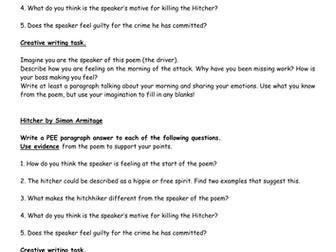 Hitcher - Simon Armitage (2 lessons, PEE)