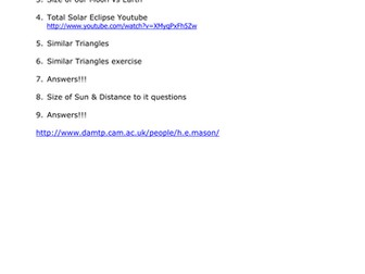 Total Solar Eclipse (Math of)