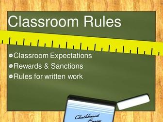 Classroom Expectations