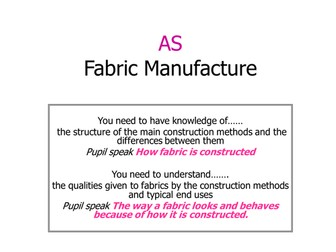 AS Fabric Manufacture Woven Non Woven and Knitted.