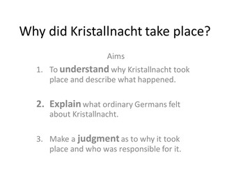 Kristallnacht - Who is Responsible?