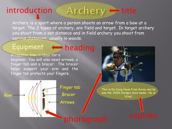 Olympic archery information page