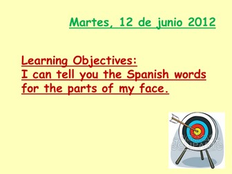 The parts of the face in spanish by raquelita64 teaching resources the parts of the face in spanish ccuart Choice Image