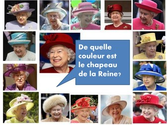 Colors and the Queen's hats.