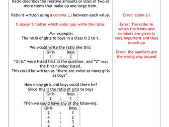 Spot The Mistakes - Ratio
