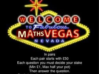 Math Vegas Revision