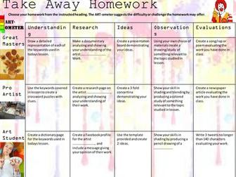 Art Take Away Homework
