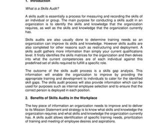 individual skills audit