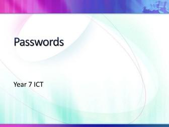 Year 7 - Passwords
