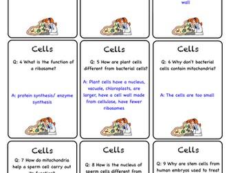 AQA Biology B2 Quiz Quiz Trade cards & Ludo board
