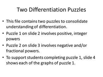 Differentiation Puzzle