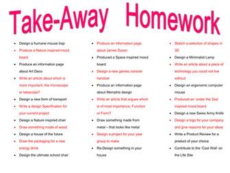 Take Away Homework