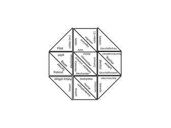 Careers puzzle game - German