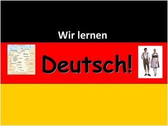 Beginners' German Powerpoints - multi-topic