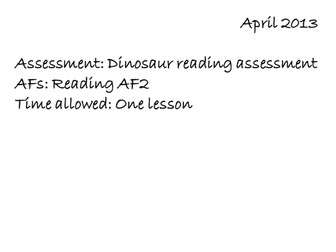 Reading AF2 assessment low ability
