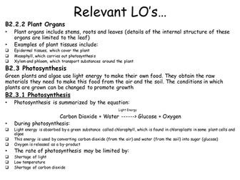 AQA Biology B2 Revision Resources