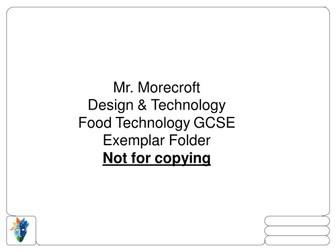 AQA food exemplar folder