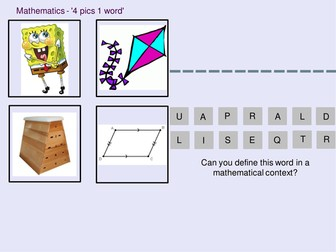 Mathematics 4 pics 1 word - Polygons