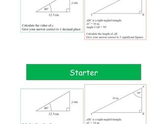 Trigonometry - Missing Angles Grade B Level 8