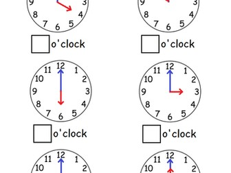 Telling the time to oclockhalf past by sophiemhorton teaching telling the time to oclockhalf past by sophiemhorton teaching resources tes ibookread Download